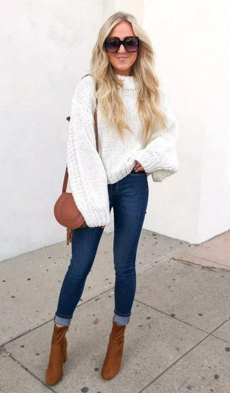Fall Outfit Ideas For Women, Polo neck, Casual wear