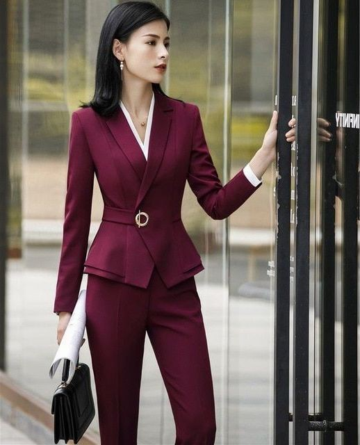 Office Outfit Ideas For Women, Tuxedo M.