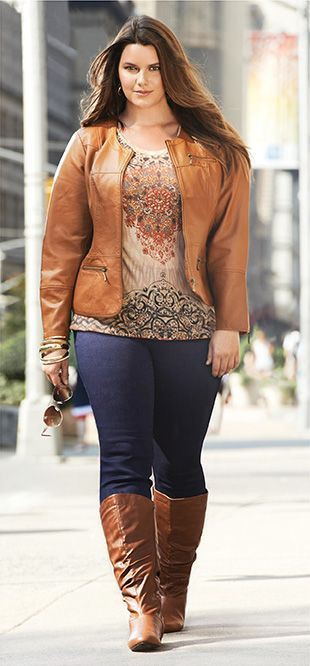 Plus size layered casual wear clothing for over 40 aged women