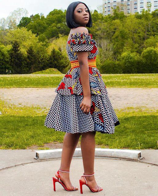 High Waist Skirt Ankara Gown Styles, African wax prints,