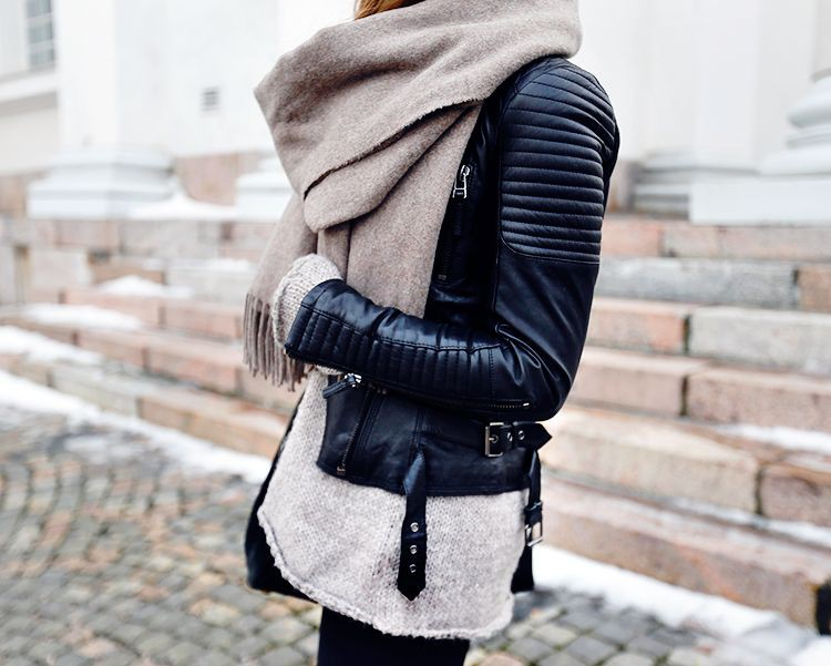 Dresses With Scarves, Tiger of Sweden, Leather jacket