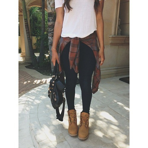 Perfect combination of combat boots outfit, The Timberland Company