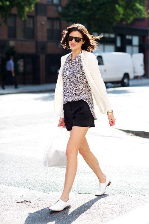 Fashion addict styling white brogues, Brogue shoe