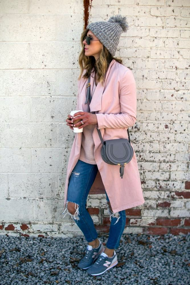Outfits with pink new balance