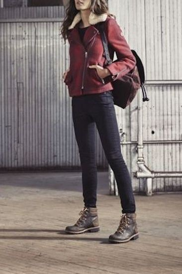 Timberland hiking boots women outfits