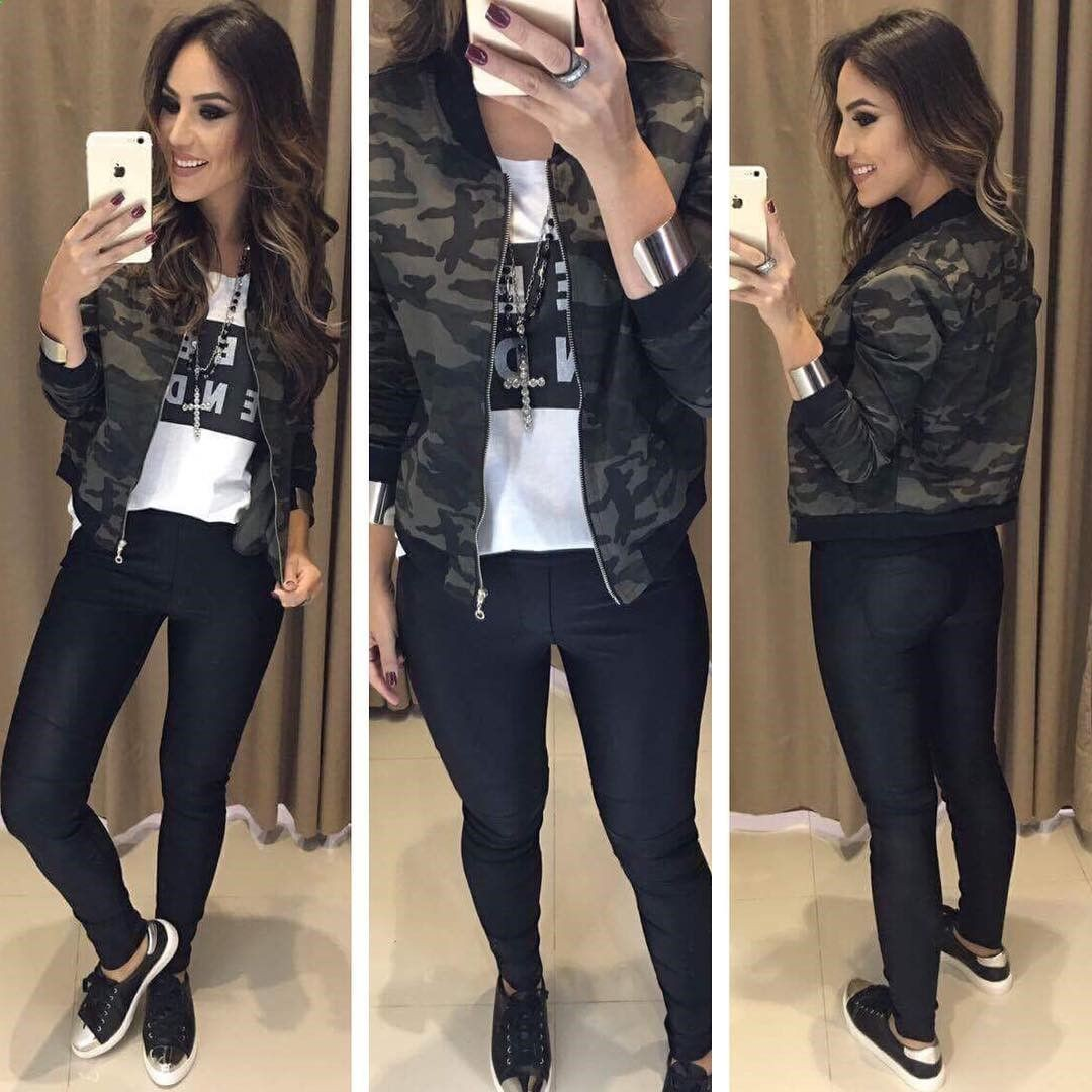 Bomber Jacket Outfit, Leather jacket, Ripped jeans