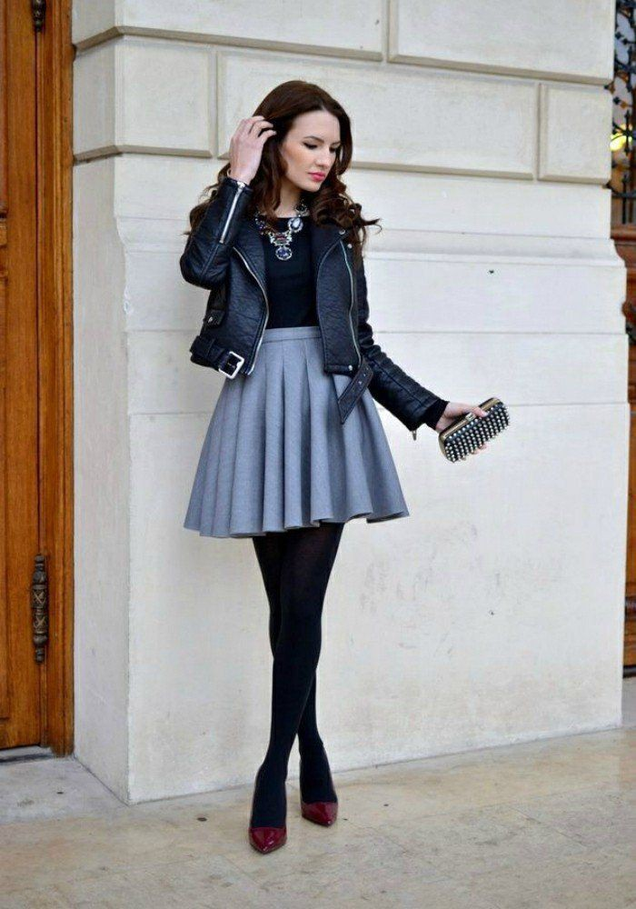 Explore more jacket with skirt, Leather Skater Skirt