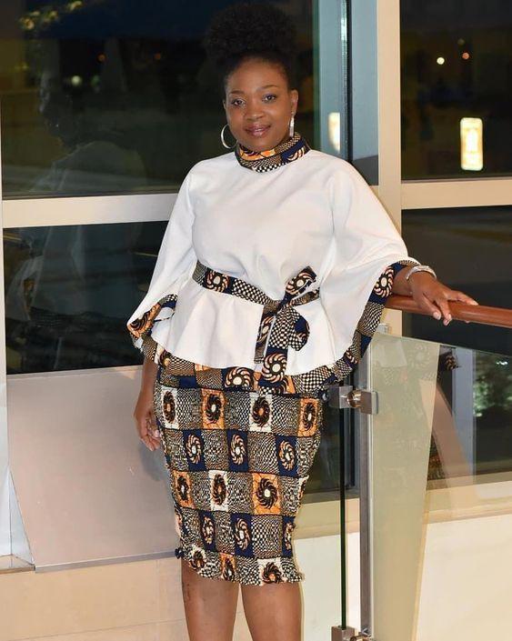 African Peplum Dress Designs African Dress White Kitenge Dresses African Dress Fashion Design Kitenge Dresses