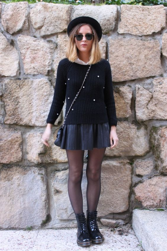 Patent leather doc martens outfits