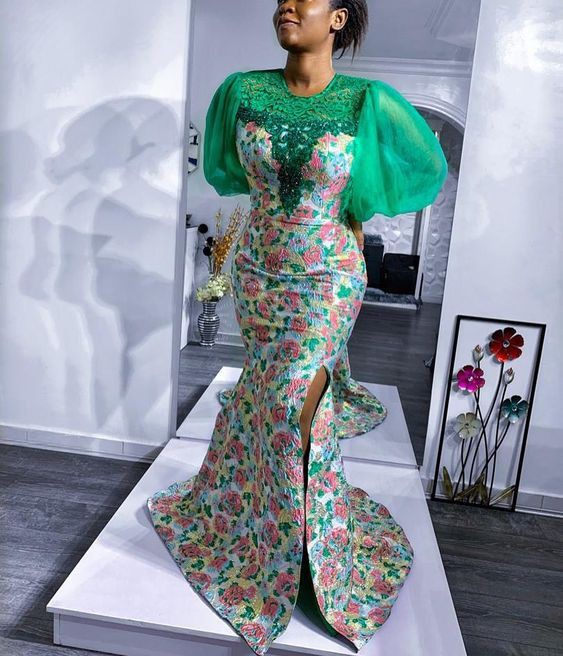 Affordable and elegant fashion model, African wax prints