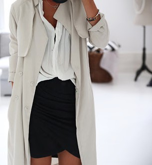 white Suede Trench Coats, Fashion blog, Trench coat