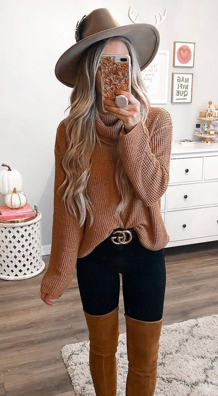 Outfit Ideas With Sweaters, Thigh-high boots, Over-the-knee boot