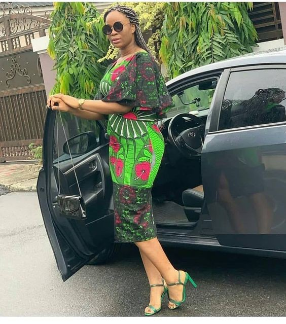 Aso ebi Short African Dresses
