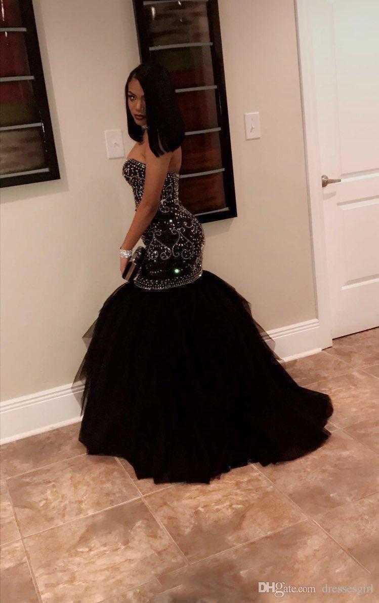 Black prom dress mermaid, Evening gown