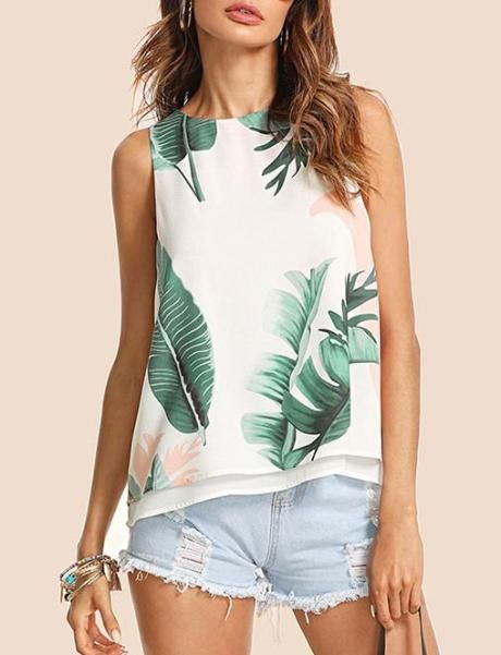 Charming fashion tops shein clothing, Sleeveless shirt