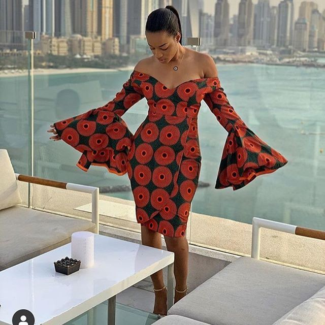 Ankara Gown Styles, African wax prints, Cocktail dress
