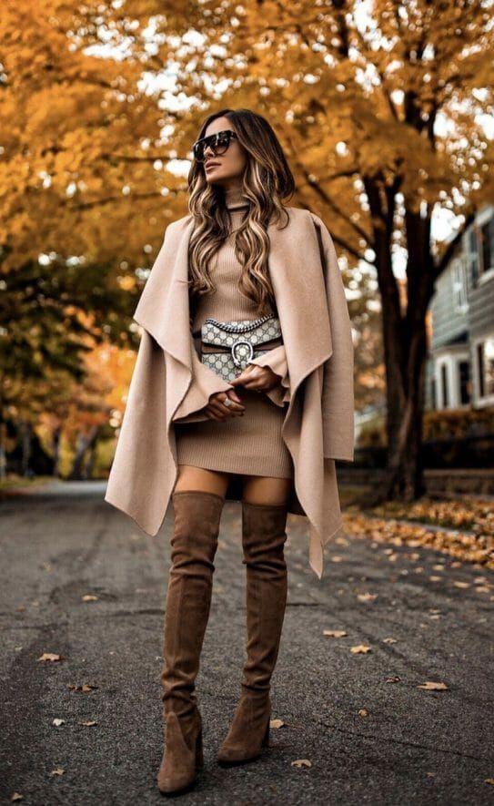 Elegant Khaki Skirt Style Outfit