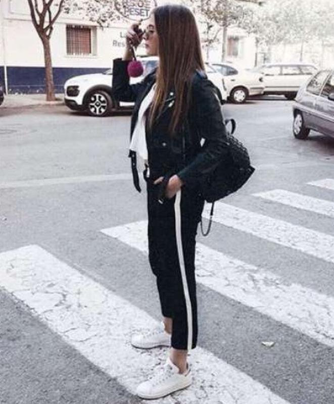 Outfit pantalon raya lateral, Casual wear