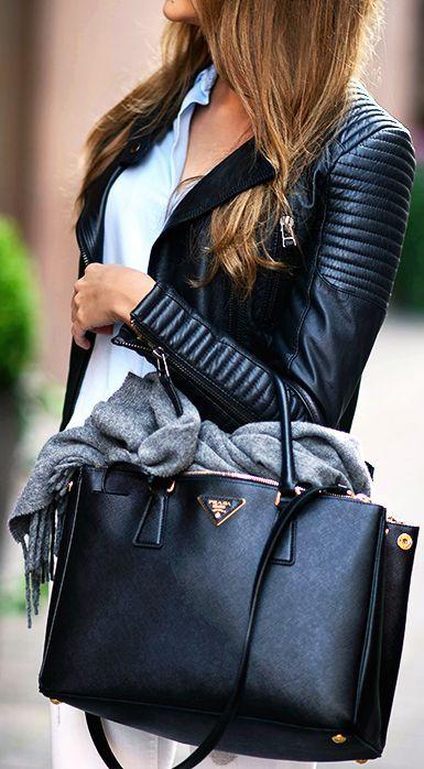 Prada galleria bag look, Capri Holdings