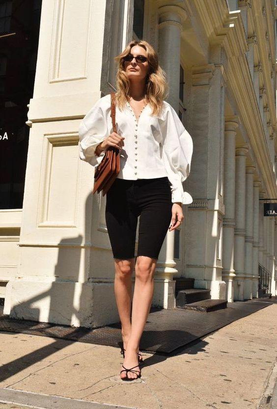 Womens clothing fashion model, Cycling shorts