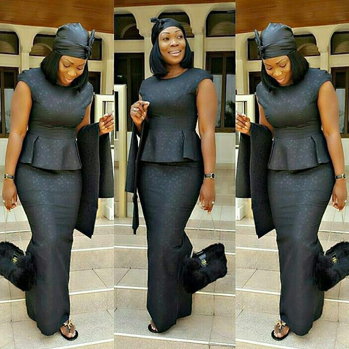 Kaba and slit styles for funeral