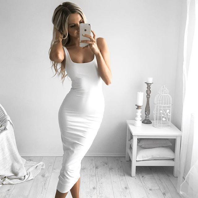 Most desirable & stylish vestidos largos pegados, Minx sexy traje