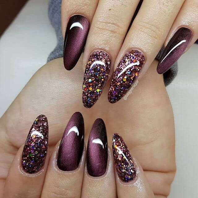 Stunning images of burgundy nails ideas, Nail polish
