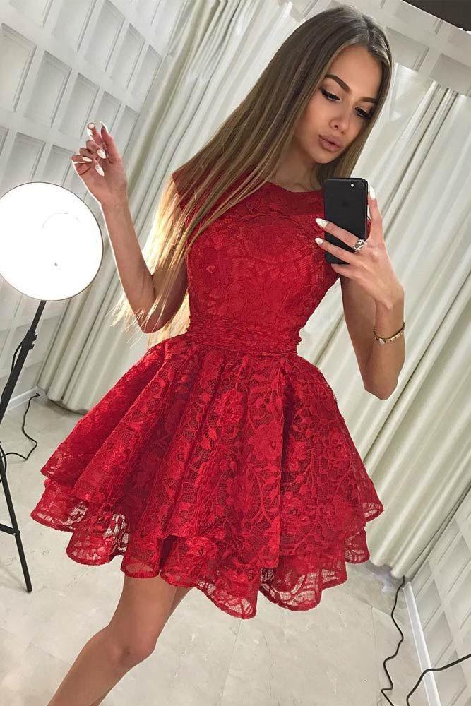 Red short prom dress, Formal wear