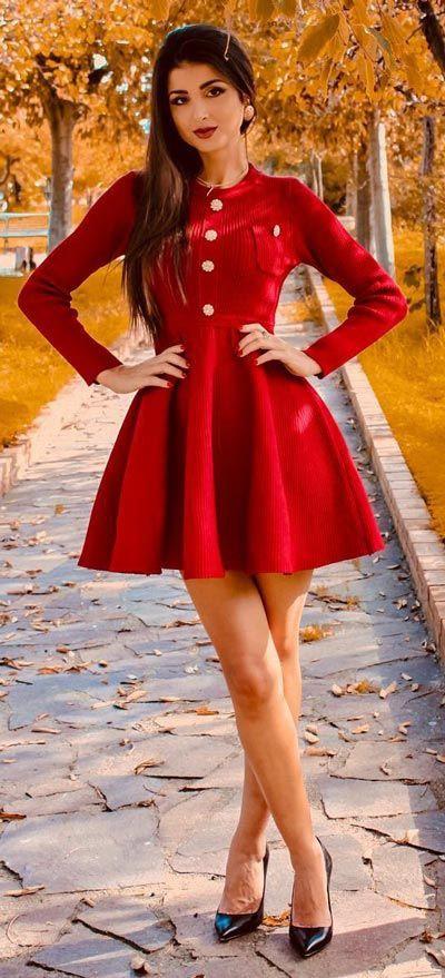 Retro style fashion model, Cocktail dress