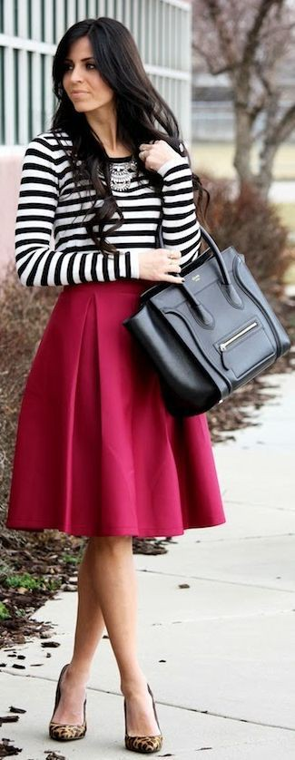 Church red skirt outfits, Modest fashion