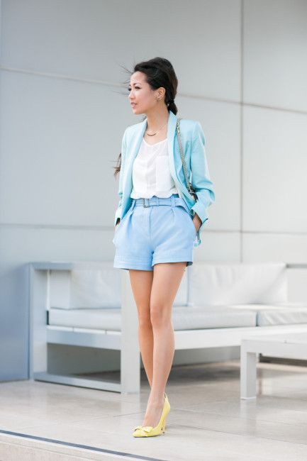 Pastel color outfit for female