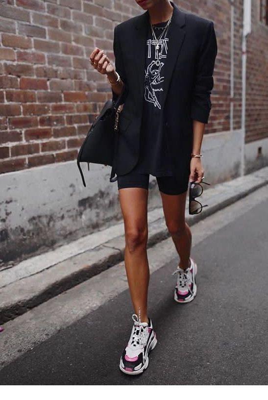 Little black Blazer Outfits Female