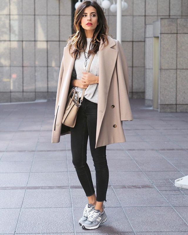 Outfits To Wear With Sneakers, Polo coat, Trench coat