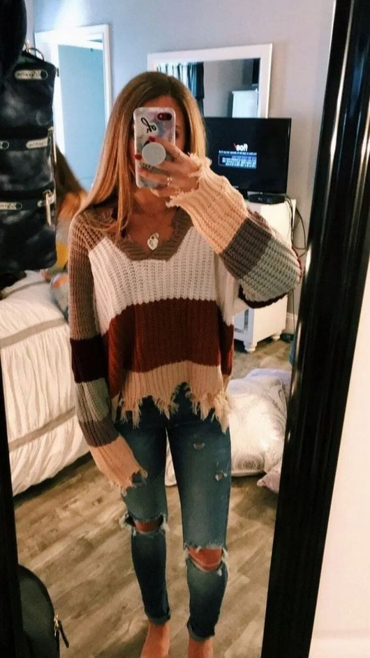 Cute lazy winter outfits for school