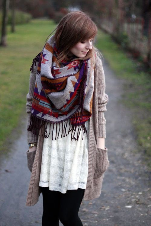 cute dresses with scarves
