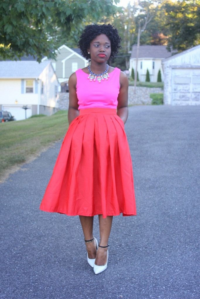 Red Skirt Outfit, Cocktail dress, Formal wear