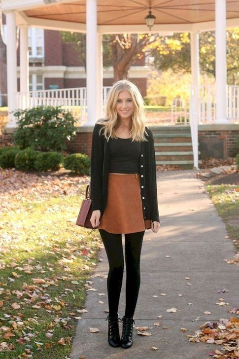 Find out these trending fall skirt outfits, Casual wear