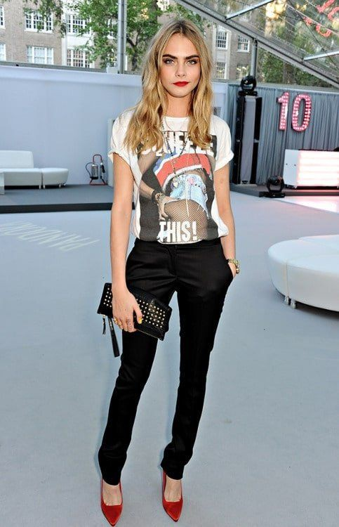 Worth watching these outfit cara delevingne, Little black dress