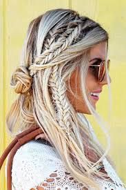 Explore stunning and amazing bohemian fishtail braid, Artificial hair integrations