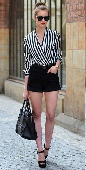 You must try these outfits short elegantes, Casual wear