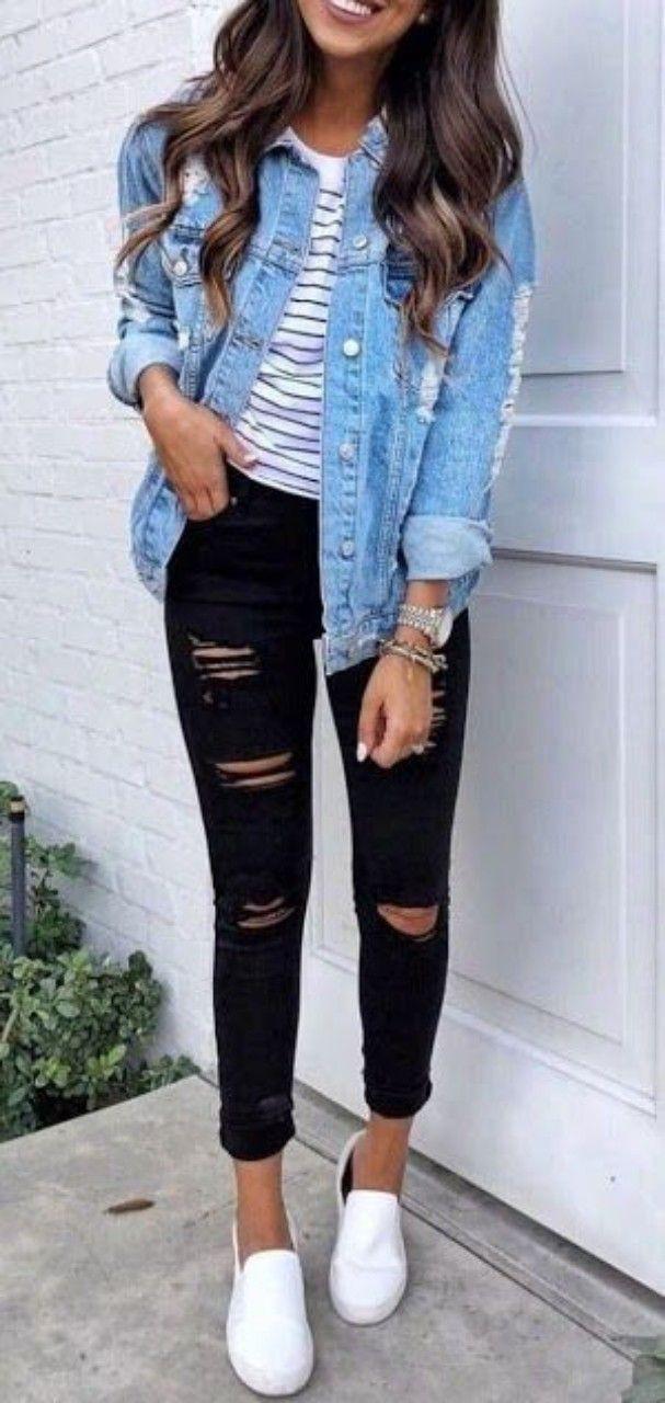 Denim jacket outfit ideas, Jean jacket