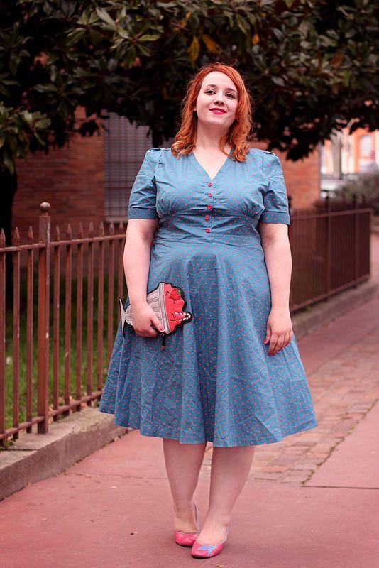 Plus Size Workwear Outfits, Polka dot, Fashion blog