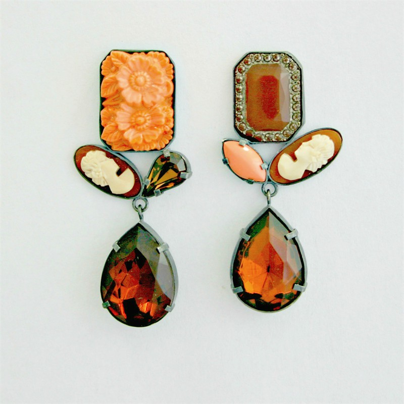 Double Drop Asymmetrical Earrings