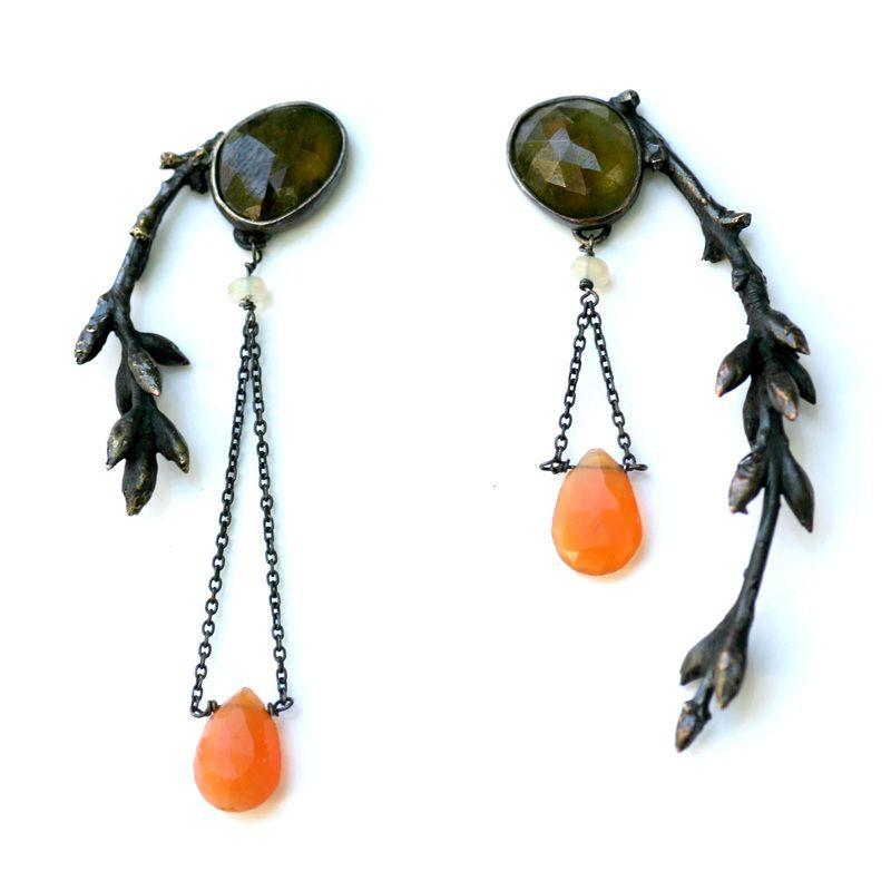 Asymmetrical Earrings Ideas, Sterling silver, Jewelry design
