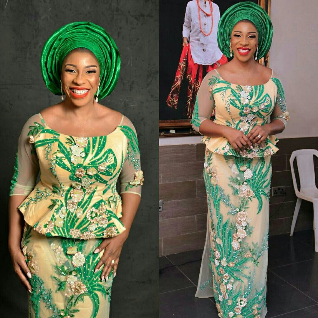 Latest Green Kaba And Slits Styles, African Dress
