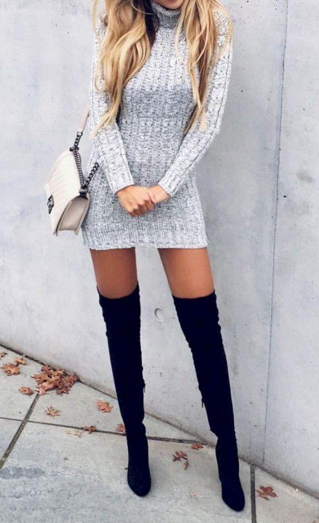 Outfits to wear with tall heel boots
