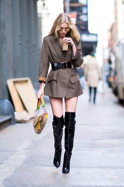 Outfits con vestidos cortos y botas