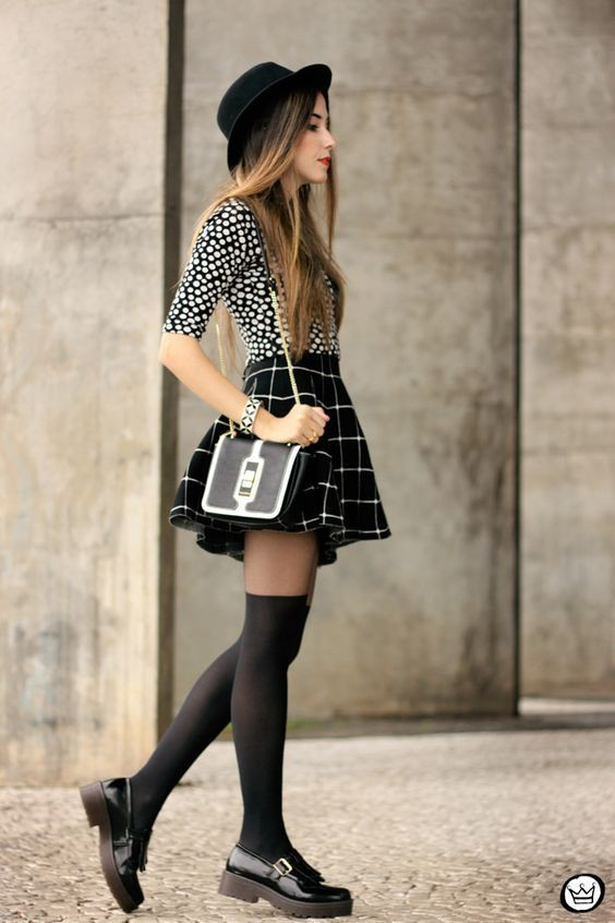 Global desire for checked skirt outfit, Casual wear
