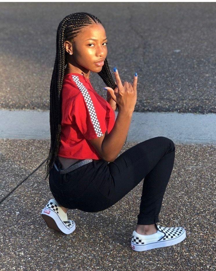 Back to school braids for black girls