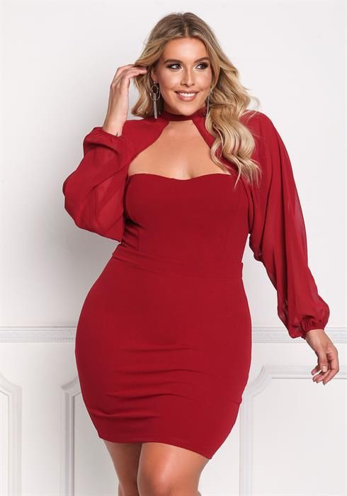 Fall in love with these bbw red dress, Party dress